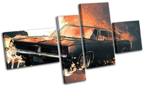 Fast Car Furious Abstract 7 - 13-6018(00B)-MP09-LO